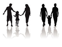 Mother, father, child silhouette Royalty Free Stock Photos