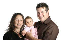 Mother and father with cute baby girl Royalty Free Stock Images