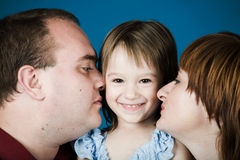 Mother, father and daughter Royalty Free Stock Image