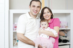 Mother and father with dauther Stock Photo