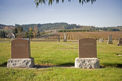 Mother & Father Headstones Royalty Free Stock Photos