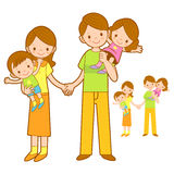 Mother and Father husband holding the children. Home and Family Stock Photo