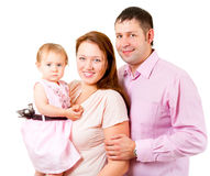 Mother, father and little daughter - happy family Royalty Free Stock Photography
