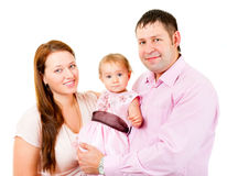 Mother, father and little daughter - happy family Royalty Free Stock Image