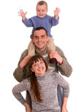 Mother, father and little son. Stock Photo