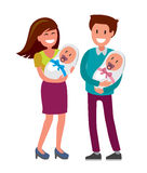 Mother and father and newborn Stock Photography