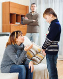 Mother and father scolding teenager Stock Images