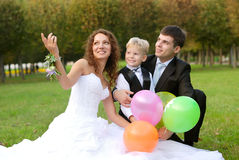 Mother, father and son Stock Photo