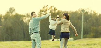 Mother Father and their little son Stock Images