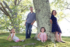 Beautiful family outside Royalty Free Stock Images