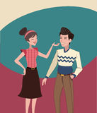 Mother and father vintage background. Vector illustration eps 10 Stock Images
