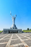 Mother of the Fatherland monument in Kiev, Ukraine. The sculptur Stock Photo