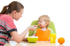Mother feeding baby Royalty Free Stock Image