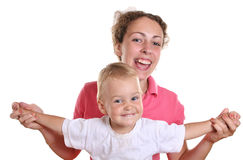 Mother with fly baby 2 stock image