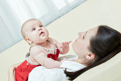 Mother game with her child Royalty Free Stock Photo