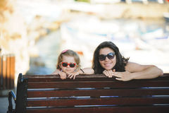 Mother and Girl Having Rest Royalty Free Stock Photography