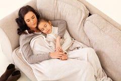 Mother girl sleeping Royalty Free Stock Image