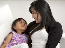 Mother and girl smiling Royalty Free Stock Photo