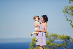 Mother and Girl in Sunglasses Stock Photo
