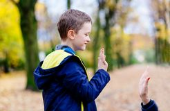 Mother Giving A Hi-five Her Little Son Royalty Free Stock Photography