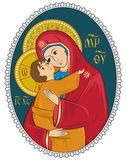 Mother of God with Christ Child icon Stock Photography