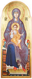 Mother of God Vergin Mary and Jesus Christ. The Icon a Mother of God (Mary) and child (Jesus Christ) on gilding wood Stock Photography