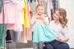Mother goes shopping with her daughter Royalty Free Stock Photography