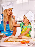 Mother and grandchild baking cookies Royalty Free Stock Images