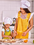 Mother and grandchild baking cookies Stock Photography
