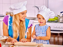 Mother and grandchild baking cookies Royalty Free Stock Photos