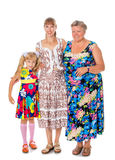 Mother grandmother and granddaughter Stock Photography