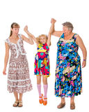 Mother grandmother and granddaughter Royalty Free Stock Image