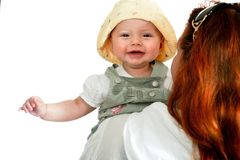 Mother with happy girl Stock Photography