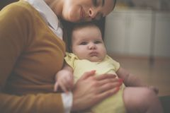 Mother happy mother holding her baby girl royalty free stock photography