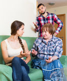Mother having conflict with children Royalty Free Stock Photography