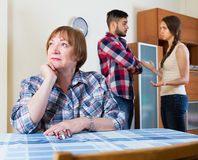 Mother having conflict with children Stock Photography