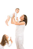 Mother having fun with kids Stock Photo