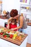 Mother Helping Daughter Royalty Free Stock Photos