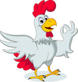 Mother hen cartoon pointing Stock Photo