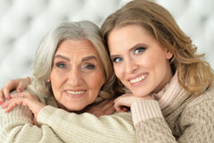 Mother and her adult daughter Royalty Free Stock Photography