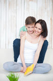 Mother and her adult son together Stock Photo