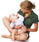 Mother with her baby Stock Image