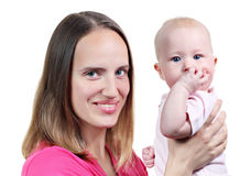 Mother and her baby Royalty Free Stock Photography