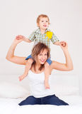 Mother and her baby Stock Photos