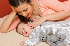 Mother with her baby Royalty Free Stock Images
