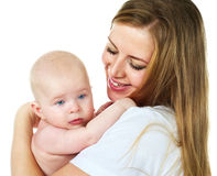 Mother with her baby boy Stock Images