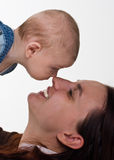 Mother and her baby boy Stock Photography