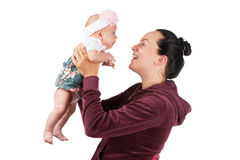 Mother with her baby daughter Royalty Free Stock Photo