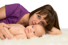 Mother with her baby daughter Royalty Free Stock Photos