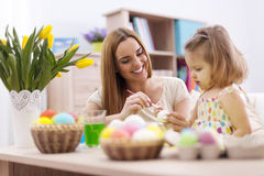 Mother and her baby during easter Royalty Free Stock Photography